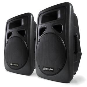 PAAR-DJ-PA-AKTIV-BOXEN-ABS-LAUTSPRECHER-DISCO-1200W-MAX-POWER-SPEAKER-SET