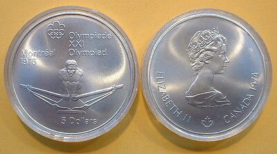 24.30 GR CANADA 1976 OLYMPIC $5 COIN .925 FINE TOTAL PURE SILVER .723 TROY OZ