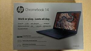 """HP 14"""" HD Chromebook Laptop 14-DB0031NR AMD A4-9120 32GB 4GB Brand New Sealed"""