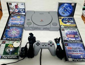 Playstation 1 (PS1) SCPH 1002 audiófilo Reino Unido PAL Paquete De Juegos Retro-probado!