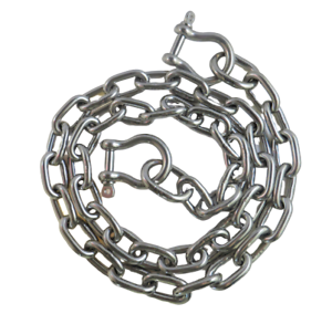 """Stainless Steel 316 G50 Proof Coil Chain 3//8/"""" by the foot"""