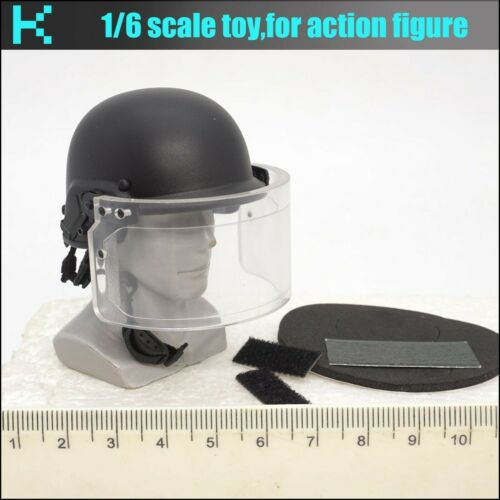 A07-09 1//6 scale DAMTOYS 78061 FRENCH POLICE RIOT HELMET
