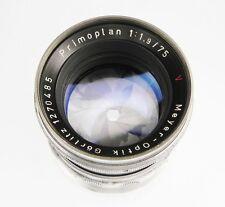 Meyer Gorlitz 75mm f1.9 Primoplan Nikon SLR mount  #1270485