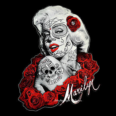 1011 BL Tatouage Design Flash girl pinup Muerte piments Style Old School T-Shirt