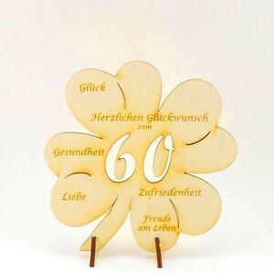 Geschenk Gluckwunsche Auf Kleeblatt 60 Jahre Geburtstagsgeschenk
