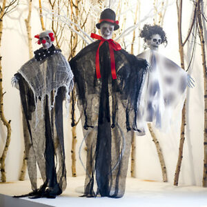 SCARY-HANGING-HALLOWEEN-SKULL-GHOST-PENDANT-PARTY-SUPPLIES-OUTDOOR-DECORATIONS