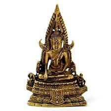 """TINY BRONZE BUDDHA STATUE 1.5"""" Small Miniature Taliman Buddhist Amulet NEW Charm"""