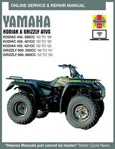 2000 Yamaha Kodiak 400 Haynes Online Repair Manual Select Access Ebay