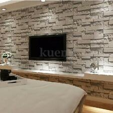 3D Stone Wallpaper Bedroom Living Mural Roll Modern Luxury Stone Wall Background