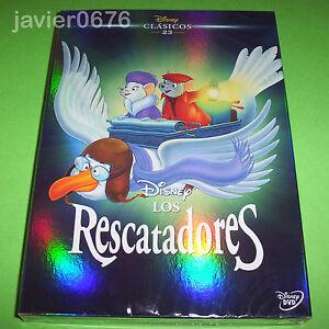 LOS-RESCATADORES-CLASICO-DISNEY-NUMERO-23-DVD-NUEVO-Y-PRECINTADO-SLIPCOVER