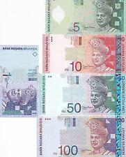Malaysia Ringgit Set/Lot 1 5 10 50 100 - GEM UNC