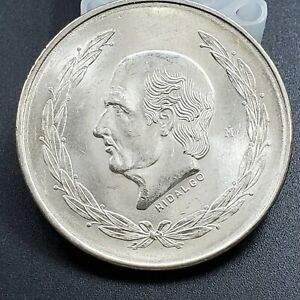 1953-Hidalgo-Mexico-Commemorative-5-Pesos-Silver-Coin-Gem-BU-Uncirculated