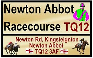 HORSE RACING ROAD SIGNS (NEWTON ABBOT) - SOUVENIR NOVELTY FRIDGE MAGNET / GIFTS