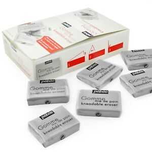 Pebeo-Professional-Quality-Kneadable-Putty-Eraser-Rubber-Grey-Box-of-24