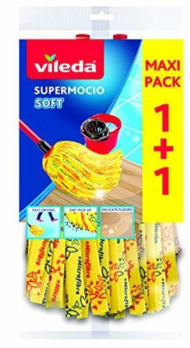 SuperMocio Soft Ersatzmop 2er Pack Ersatzwischmop Doppelpack Doppel