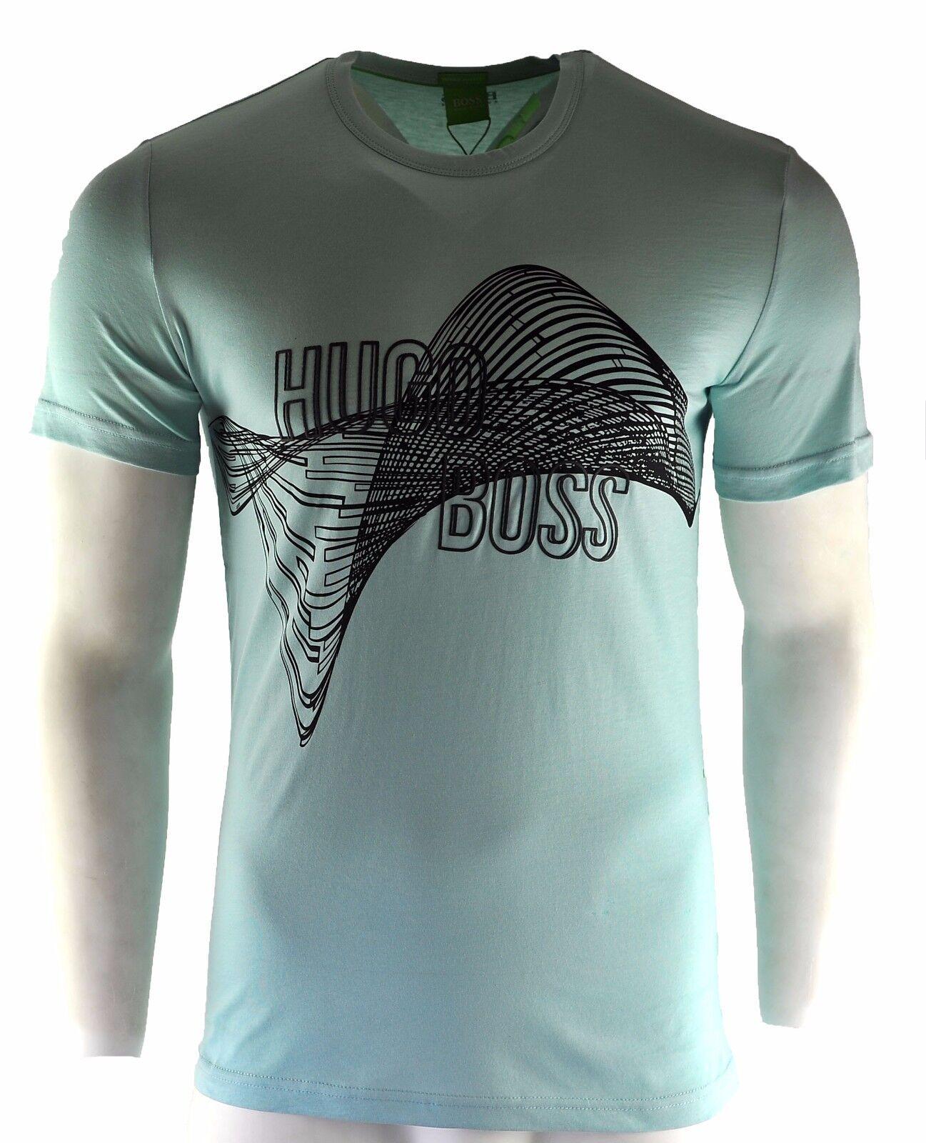 Homme HUGO BOSS BOSS BOSS t-shirt bleu à la mode ras du cou taille S M L XL XXL 7c70e1