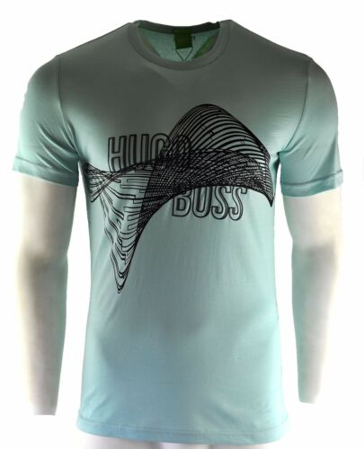 Men/'s Hugo Boss T-Shirt Blue Fashion Crew Neck Size L