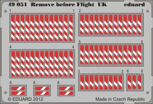 UK RBF Tags NEW Eduard 49051 1:48 Remove Before Flight Flags RAF