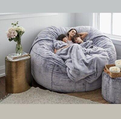 7ft Giant Fur Bean Bag Cover Living, Big Bean Bags For Living Room
