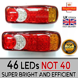 Details about 46 Led Rear Tail Lights Truck Fits Scania Volvo Daf Man Iveco  Mercedes 2 x 24v