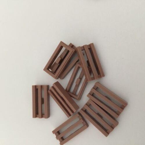 Viele Lippe Lego Sand Rot Stein,Modifiziert 1x2 mit Kühlergrill Unten Groove