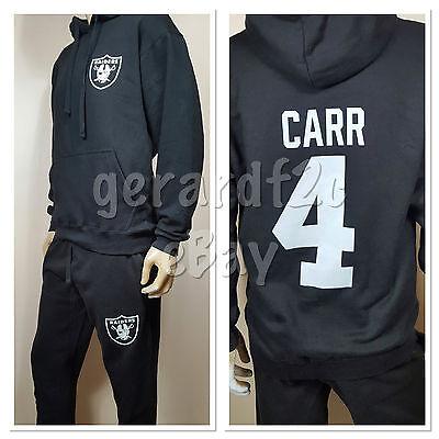 52e1d410d2 Men Raiders Carr 4 Sweatsuit / Pants Set Hoodie / Las Vegas Nation  Sweatpants | eBay