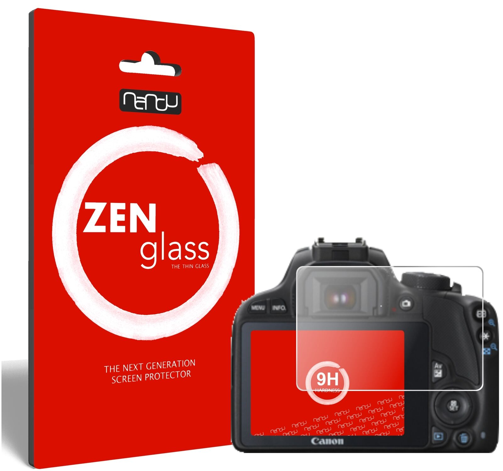 ZenGlass Flexible Glass Film for Canon EOS 100D I Screen Protector 9H Hardness