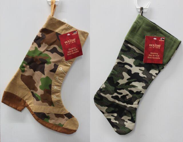 camo christmas stocking camouflage hunting army - Camo Christmas Stocking