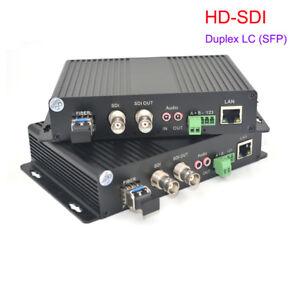 HD SDI Video Audio Ethernet Fiber Optical Media Converters TX / RX