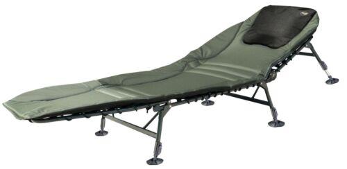 Pro Carp Deluxe 6-jambe Angel transat chaise longue pêche carpe chaise longue modèle 8212 lit de camp