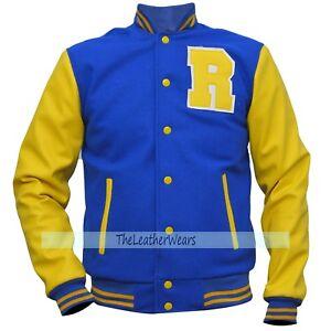 R Apa Kj Varsity Jacket Bomber Zu Letterman Blue Andrews Archie Riverdale Details nPOywvmN80