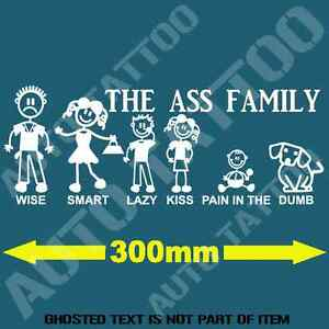 The ass family bumper sticker consider