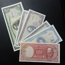 CHILE SET X 6 BANKNOTES Different Values and Dates, XF+ to UNC