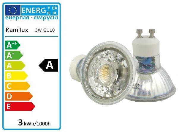 1 - 10er Set Power Led 230V GU10 3W = 25W Kaltweiss & Warmweiss