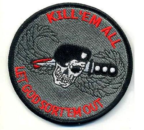 USMC FORCE RECON TALL GRASS SNIPER burdock PATCH KILL /'EM LET GOD SORT /'EM OUT