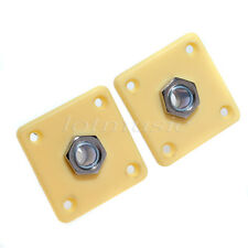 2pcs Square High Output Plate W/ Jack for Electric Guitar Cream