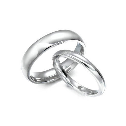 Details about  /9ct White Gold Court Wedding Band 3mm-6mm Heavy Weight