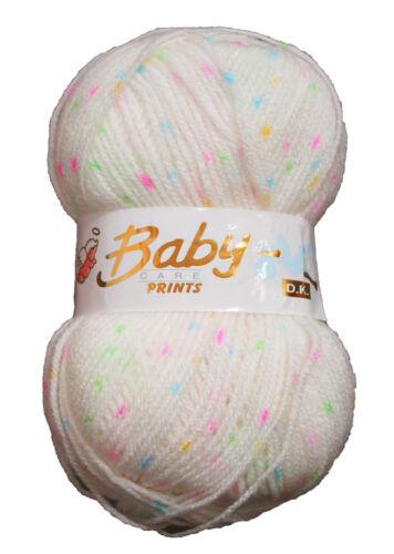 Babycare de woolcraft Bebé De Lana Suave Doble De Hilo De Tejer patrón moteado