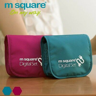 M Square Digital Storage Cell Phone Bag Case Datacable Wire Organizer Travel