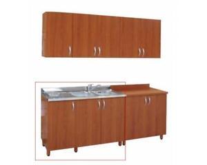 Dettagli su base lavello 120 cm con vasca inox ciliegio ciliegio/panna  bianco mobili cucina