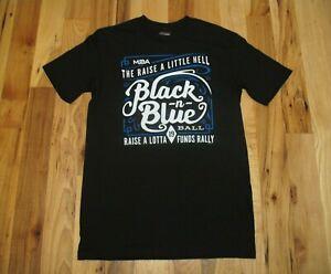 Harley-Davidson-Black-N-Blue-Ball-Funds-Rally-Black-Cotton-T-Shirt-Mens-S-NWT