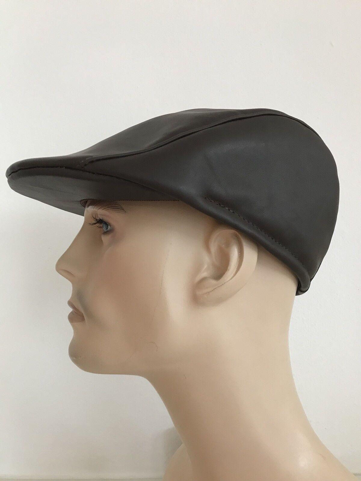 Ledermütze Cap Mütze Gr 59 Braun Hut Hut Hut Lamm Leder Scheepskin Neu    Spielen Sie auf der ganzen Welt und verhindern Sie, dass Ihre Kinder einsam sind  581cb4