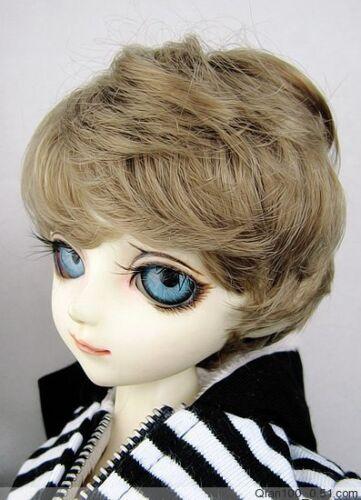 "5-6/"" Brown Short Wig for Lati Yellow BJD SD Dollfie"
