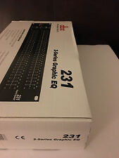 DBX 231V-EU  Dual 31 Band Graphic Equalizer  220/240V