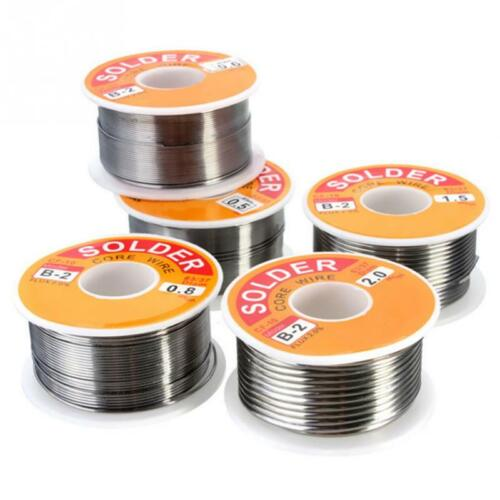 NEW 100g 0.6//0.8//1//1.2 63//37 FLUX 2.0/% 45FT Tin Lead Tin Wire Melt Rosin Core