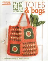 Hip 2 B Square Totes & Bags Crochet Pattern Book