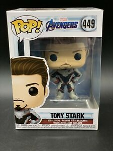 FUNKO POP TONY STARK END GAME MOVIE EXCLUSIVE 3 CARDS LIMITED NEW 449 MARVEL