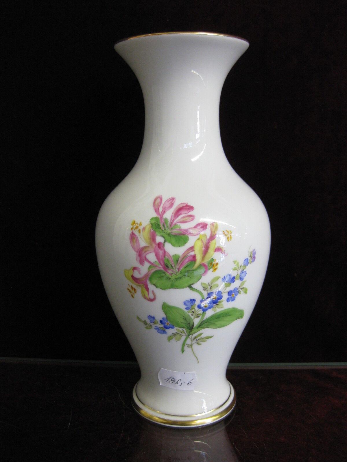 Meissen Couleuré Fleur Couleuré vase excellent état allemand Kornbleume fleurs peinture