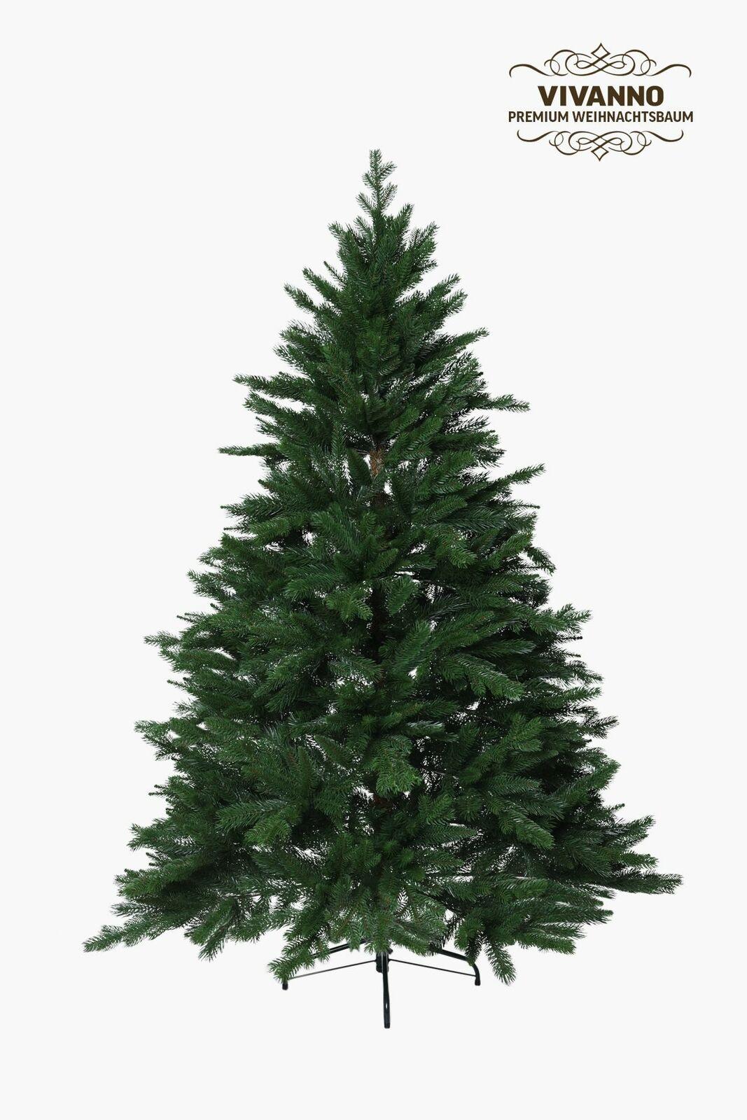 VIVANNO Künstlicher Weihnachtsbaum Tannenbaum Premium Nordmanntanne, 180 cm hoch