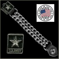 Us Army Vest Extender Usa Made Leather Biker Motorcycle Harley Chopper